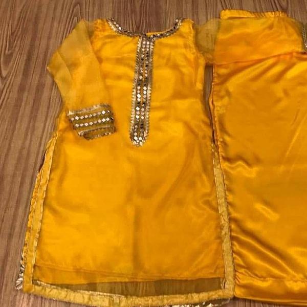 Yellow Mehndi dress