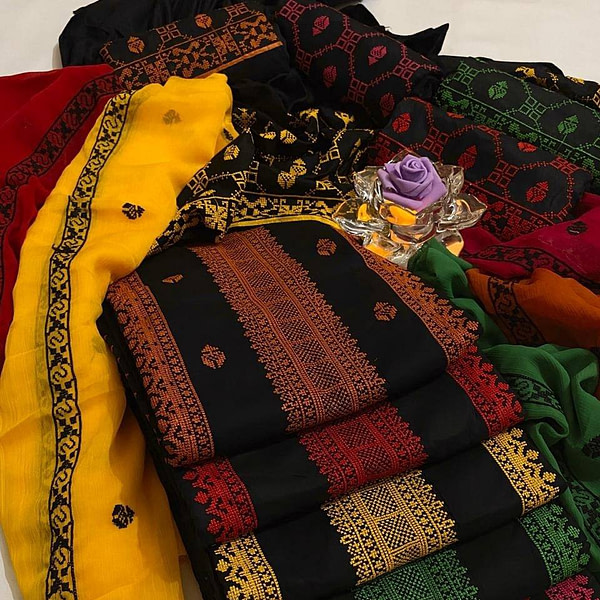 Beautiful linen embroidery 3pc suits, beautiful linen embroidery dress design2020